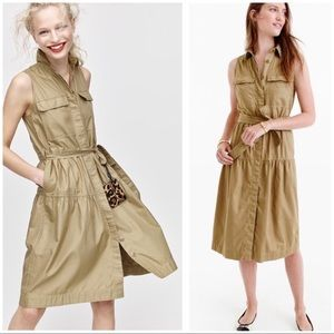EUC J. Crew Army Fatigue Tier Belted Dress 4